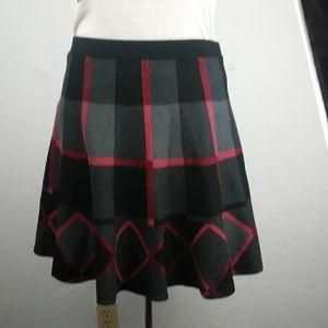 Grace Elements- plaid skirt- size Large